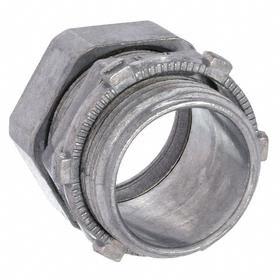 Rigid Conduit Compression Connector: 1 in Trade Size, Concrete Tight Fitting Type, Non-Insulated, 1.61 in Overall Lg