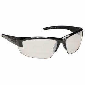 Honeywell Safety Glasses: SCT-Reflect 50, Wraparound Frame, Scratch Resistant, Black/Gray, Adj Temples