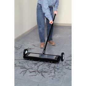 Magnetic Sweeper: Handheld Sweeper, 160 lb Max Pull Capacity, 24 in Sweeping Wd, 24 in Magnet Lg, 5 in Magnet Wd
