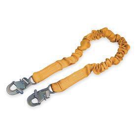 DBI Sala General Purpose Shock Absorbing Lanyard: 6 ft Working Lg, 1 Legs, Elastic, Tubular Webbing, Snap Hook, Yellow