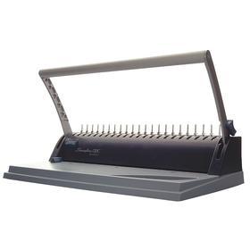 Binding Machine: Manual, Comb Bind, 160 Binding Sheet Capacity, 9 Punching Sheet Capacity, 5 1/2 in Ht, 15 3/4 in Wd