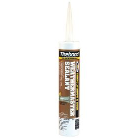 Titebond Silicone Sealant: 15 min, 14 day Full Cure Time, Bronze, Advanced Polymer, 10.1 fl oz Size, Cartridge