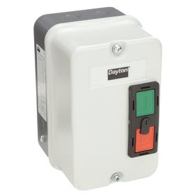 IEC Motor Starter Enclosure: For IEC, 4 3/4 in Exterior Wd, 5 1/8 in Exterior Dp, 7 3/8 in Exterior Ht, NEMA 4 NEMA Rating