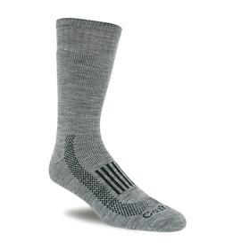 Cold-Weather Insulating Socks: Gray, Men, 10 to 13 Men's Size, Acrylic/Elastane/Nylon/Polyester/Wool, 1 PR