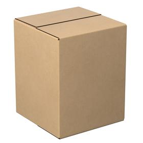 General Purpose 200 lb Test Shipping Box: 12 in Interior Lg, Single, Fixed Ht Type, Square, 12 in Interior Wd, Brown, 25 PK