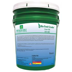 RLI Food Grade Gear Oil: Synthetic, 680 ISO Grade, 8 AGMA Grade, 84 cSt Viscosity @ 100° C, 5 gal Container Size, Bucket