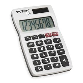 Calculator: 3 Key, 8 Display Digits, 4 in Lg, 2 1/2 in Wd, 1/4 in Dp, Solar/Battery Power Source
