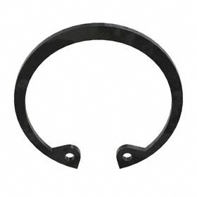 Internal Retaining Ring: Steel, Black Oxide, DHO-40 Ring, For 40 mm Bore Dia, For 42.5 mm Groove Dia, 5.8 mm Lug Ht