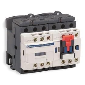 Schneider Electric IEC Magnetic Contactor: 3 Poles, Three Phase, 25 A Current Rating, 24V DC Control Volt, Reversing