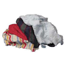 Shop Towel: 100% Cotton, Recycled, Assorted, 10 lb Size, Box