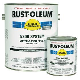 Rust-Oleum Epoxy Coating: Epoxy & Activator Kit, Marlin Blue, 2 to 5 hr Dry Time, 200 to 350 sq ft/gal, VOC Compliant
