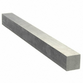 Undersized Key Stock: Rectangle, 18-8 Stainless Steel, 72.0 in Lg, -0.250 in Lg Tolerance, 1/8 in Wd, 1/8 in Overall Ht