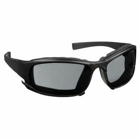 Kimberly-Clark Professional Safety Glasses: Gray, Wraparound Frame, Anti-Fog/Scratch Resistant, Black, Polycarbonate