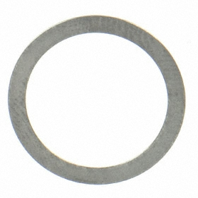 Stainless Steel Round Shim: 0.004 in Thickness, +/-0.0005 in Thickness Tolerance, 1/8 in ID, 13/64 in OD, 25 PK