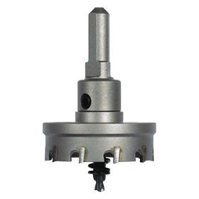 MK Morse Hole Saw: With Built-In Arbor, 3/8 in Arbor Shank Dia, Hex, Carbide Tipped, Ejector Spring for Slug Removal, 3 in Saw Dia