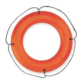 Ring Buoy: Type IV US Coast Guard (USCG) Rating, 30 in Dia, 32 lb Buoyancy, Orange, Polyethylene