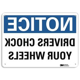 Lyle Shipping & Receiving Sign: 10 in Overall Ht, 14 in Overall Wd, Aluminum, Mounting Holes, Notice, Safety Information, White