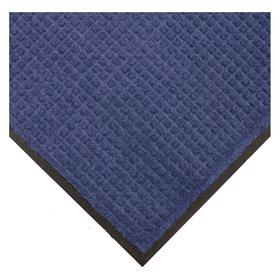 Entrance Runner: Fade Resistant/Oil Resistant/Stain Resistant/Wear Resistant, Rectangle, 3 ft Wd, 10 ft Lg, Blue, Waffle