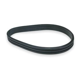 Banded V-Belt: B Belt, 3 Ribs, 3/B148 Industry, 151 3/4 in Outside Lg, 5.40625 in Min Pulley Dia, 2 in Top Wd