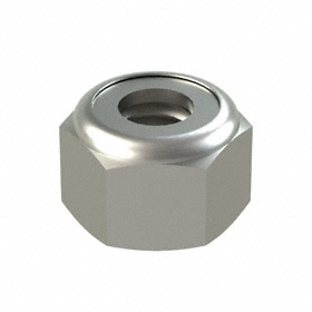 Nylon Insert Locknut: 316 Stainless Steel, M4 Thread Size, 7 mm Wd, 5 mm Ht, 50 PK