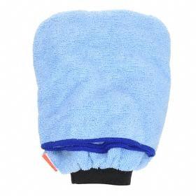 Dusting Mitt: Blue, 8 1/2 in Mitt Lg, Microfiber