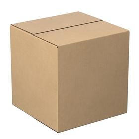 General Purpose 200 lb Test Shipping Box: 12 in Interior Lg, Double, Fixed Ht, Cube, 12 in Interior Wd, 15 PK