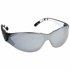 Body Glove Safety Glasses: Smoke Mirror, Full Frame, Scratch Resistant, Black/White, ANSI Z87.1-2003:ANSI Z87.1+