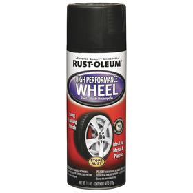 Rust-Oleum Paint for Wheels: Black, Flat, 10 min Dry Time, 10 min Dry Time to Recoat, 8 to 10 sq ft