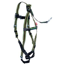 Honeywell Miller General Purpose Harness: 1 D-Rings, Vest, With D-Ring Extender, Stretchable Polyester, 1 Back D-Ring