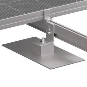 Composition Mount: Cast Aluminum, Commercial PV Systems to TPO, PVC, EPDM & Built-Up Asphalt Roofs, 12 PK