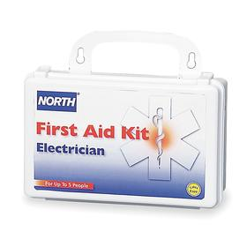 Honeywell First Aid Kit: 5 Max # of People Served, 66 Pieces, OSHA 1926.50, Plastic, 5 1/8 in Ht, 8 in Wd, 2 3/4 in Dp