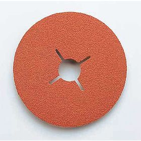 3M Sanding Disc: Extra Coarse Relative Grit Grade, 5 in Disc Dia, 24 Grit, 7/8 in Center Hole Dia, Coated, Fiber, 25 PK
