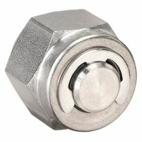 Ham-Let Stainless Steel Instrumentation Tube Plug: 1/4 in Port 1 Tube Size, -425° F Min Op Temp, 1200° F Max Op Temp