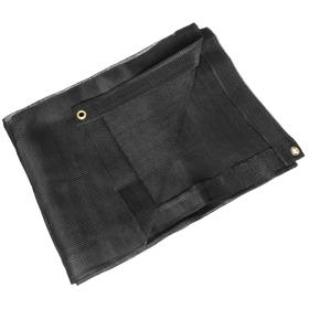 Woven Polyethylene Tarp: Mildew Resistant/Tear Resistant/UV Resistant, Black, 19 1/2 ft Finished Lg