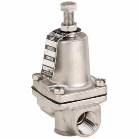 Watts Pressure Regulator: Stainless Steel, NPT, 300 psi Max Pressure Adjustment, 3/8 in Inlet Size, 2 1/8 in Overall Lg