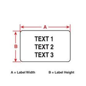 Brady Portable Printer Label: Polyester, For Brady BMP71/Ribbon M71-R4400-WT/Ribbon M71-R6000 BK, 31/64 in Label Ht, white