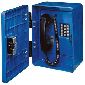 Wired Landline Phone: Specialty, Blue, 6 ft Cord Lg, Hytrel Coiled Cord