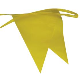 Pennant: 100 ft Overall Lg, Yellow, 12 in Flag Ht, 9 in Flag Wd, 60 Pennants per String
