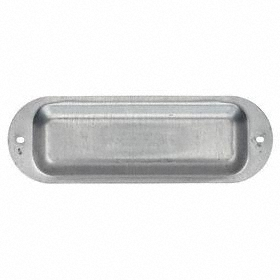 Emerson Conduit Body Cover: 3/4 in Hub Size, Steel, Zinc Electroplate, Gray, 4.625 in Overall Lg, 1.5625 in Overall Wd