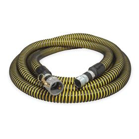 Water Hose Assembly: 2 in Hose ID, Polyethylene, Yellow & Black, 2 Fitting Size, Camlock, Female, NPT, Male