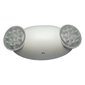 Plastic Emergency Light Fixture: LED, 2 Lightheads, 90 min Emergency Illumination Time, 4 3/4 in Overall Ht, 10 in Overall Lg