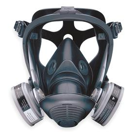 Honeywell Full-Face Mask Respirator: Dual, Bayonet, Silicone, 5-Point, M Size, Dual Cartridge Configuration