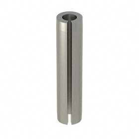 Slotted Spring Pin: 18-8 Stainless Steel, Passivated, 1/8 in OD, Fits 0.125 Min Hole Dia, 9/16 in Overall Lg, 100 PK