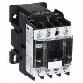 IEC Contactor: 4 Poles, Single/Three Phase, 9 A Current Rating, 120V AC Control Volt, 1/2 hp - Single Phase @ 120V