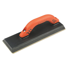 Tile Grouting Hand Float: 12 in Blade Lg, 4 in Blade Wd, Rubber, Squared